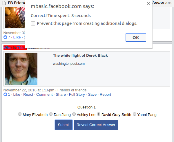 Scraping Facebook with Javascript to Get a List of Your Friends